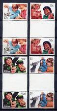40687) AUSTRALIA 1987 MNH** Aussi kids 4v gutter pair