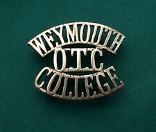The Weymouth College OTC Shoulder Title 100% GENUINE British Military Army Badge