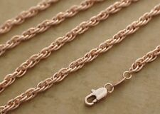 4mm Ornate Multi Link Chain Necklace Pink Rose Gold Filled Jewelry 23-24 inch