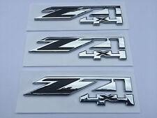 3pcs Chrome for GMC Chevy Silverado Sierra Tahoe Suburban Z71 4x4 Emblems OEM