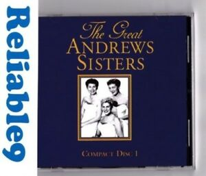 Andrews Sisters - The great Compact disc one CD 18 tracks Rare - X Red/AMCOS