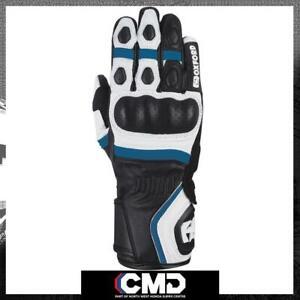 Oxford RP-5 2.0 Ladies Street Sport Leather Gloves White/Black/Blue