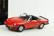 1986 Alfa Romeo Spider 3 Serie 2 mit Softtop rot 1:18 KK Scale Diecast