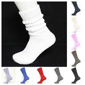 Women's Heavy Cotton Workout Exercise Slouch Socks Size 9-11 Aerobic Exercise