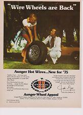 Vintage 1975 AUNGER HOT WIRES Original AUSTRALIA Advertising Genuine Article Ad