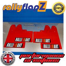 Mudflaps Mitsubishi Evo 5/6 Mud Flaps rallyflapZ Red Ralliart(Blk Box) Kaylan PU