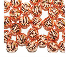 Round Knot Twist 10mm Bright Copper Metalized Metallic Beads