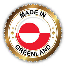 """Made In Greenland Label Car Bumper Sticker Decal - ''SIZES"""""""