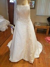 Mori lee by madeline gardner wedding dress size 14 ivory champ style 3613