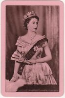 Playing Cards 1 Single Swap Card Old Vintage QUEEN ELIZABETH II Royal Royalty 3
