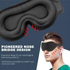 3D Sleep Mask Silk Men Women Dry Eye Mask Sleeping Padded Shade Cover Blindfold