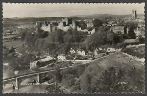 Postcard Ludlow Shropshire view from Whitcliffe RP