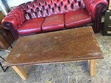 Vintage School Science Lab Bench Iroko Coffee Table Workstation Industrial