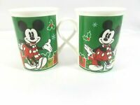Disney Mickey Mouse 2013 Christmas Presents Coffee Mug Cup Lot of 2