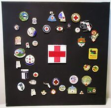 Vintage WWII American Red Cross Collectible Pins Lot Set