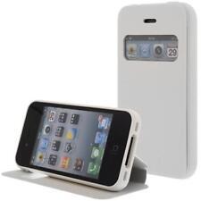 similicuir Pochette pour téléphone cellulaire Pour Apple iPhone 4S/4G Blanc