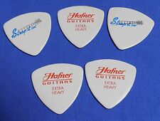 NOS LOT OF 5 EXTRA HEAVY HOFNER 346 STRAP IT ON TRIANGLE GUITAR PICKS