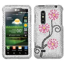 Moon Flowers Crystal Diamond BLING Hard Case Phone Cover AT&T LG Thrill 4G P925