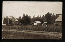 Algona Iowa IA 1917 RPPC Farm - House - Barn - Animals