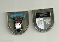 "JFK JOHN KENNEDY  SPECIAL FORCES  AIRBORNE CENTER AND SCHOOL  2"" CHALLENGE COIN"