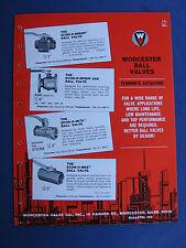 Worcester Valve 1960's Catalog Asbestos Packing Wovco Teflon & Micarta