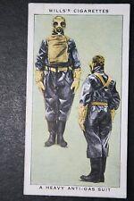 Heavy Anti- Gas Suit    British Decontamination Squad  Vintage Card  #  VGC