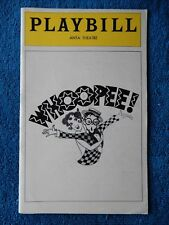Whoopee! - ANTA Theatre Playbill w/Ticket - July 14th, 1979 - Charles Repole