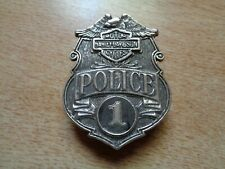 Harley Davidson Police Badge Classic Factory HD Motorcycle Jacket Vest Hat Pin
