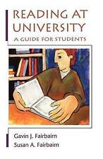 Reading at University: A Guide for Students by Gavin Fairbairn, Susan Fairbairn