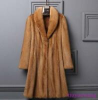 Faux Fur Long Womens Coat Lapel Thicken Winter Jackets Warm Parka New Coat Size