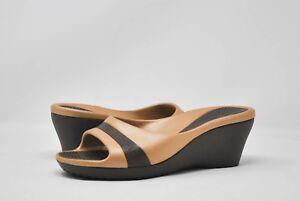 Croc's Wedge Shoe in Brown Sz 11 NEW