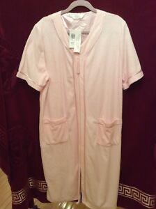 Ladies Givoni Pink Premium Long Dressing Gown Robe Sz M