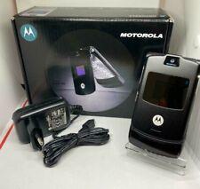 Motorola RAZR V3 Unlocked Flip Mobile Phone Black - 12 months warranty -Free P&P