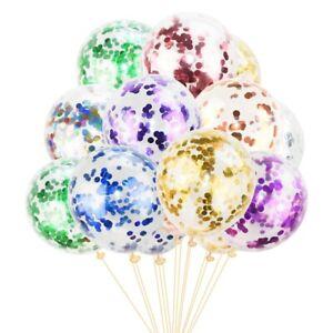 "15- 50 Pack Confetti Balloon Birthday Party Wedding Decoration 1 Multi Colour12"""