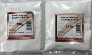 2x250g Laundry Starch Powder Linens Chef Whites Shirts Clothes Sheets Maize 500g
