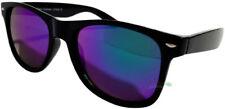 Wayfare Sunglasses Retro Classis Mens Womens Uv400 Mirror Blue Lenses