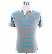 Tommy Hilfiger Men Short Sleeve Stripe Classic Fit Rugby Polo Shirt - Free Ship