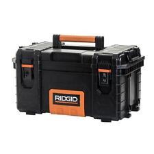 Ridgid 22 in. Pro Tool Box Portable Lightweight Plastic Lockable Storage Black