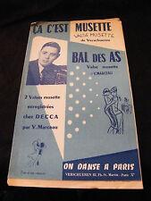 Partition ça c'est musette Verschueren Bal des as Marceau Music Sheet