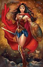 BEAUTIFUL GAL GADOT WONDER WOMAN Signed print by Billy Tucci