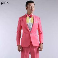 Shiny 5 Colors Mens Suits Slim Fit Blazers Show Wedding Costume Jacket Pants Set