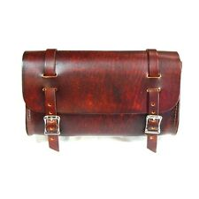 Genuine Leather Antique Brown Motorcycle Tool Bag - American Made