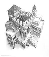 MC Escher Trepp auf, Trepp ab Poster Kunstdruck Bild 65x55cm
