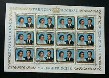 Luxembourg Royal Wedding 1981 (sheetlet) MNH