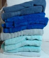 LOT OF 10  DKNY Cotton Bath Towels, Assorted Blue $160 - READ