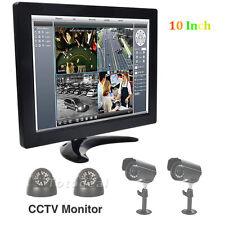 "10"" TFT LCD HD Color CCTV Security Monitor PC Screen HDMI/RCA/VGA/BNC DE STOCK"