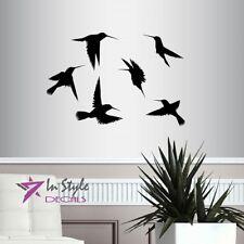Vinyl Decal Flying Humming Birds Bedroom Living Room Art Wall Sticker Decor 1962
