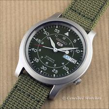 Seiko green militaire SNK805K2 Montre automatique avec bracelet en nylon vert