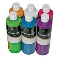 Chromacryl Students' Acrylic 6-Color Bright Set  - Pints, 6-Color Bright Set