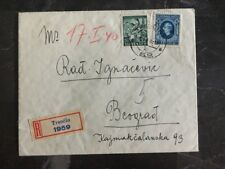1940 Trencin Slovakia Registered Cover To Belgrade Serbia